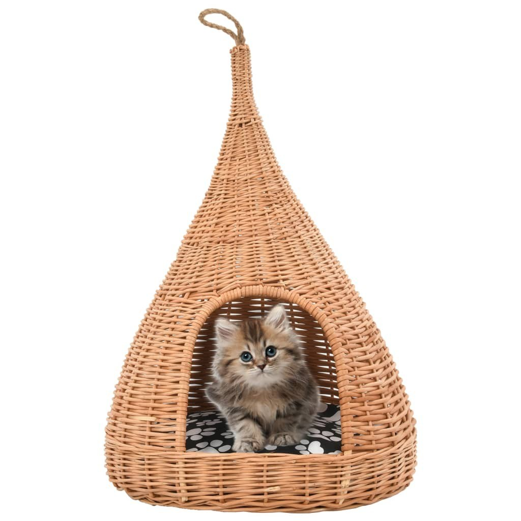 Cat house with cushions