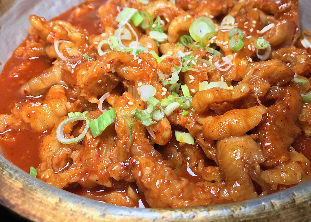 Spicy Chicken Feet with Cheese 치즈 닭발