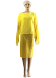 CPE Isolation Gown Yellow (10 PCs) - CanMedic Tech
