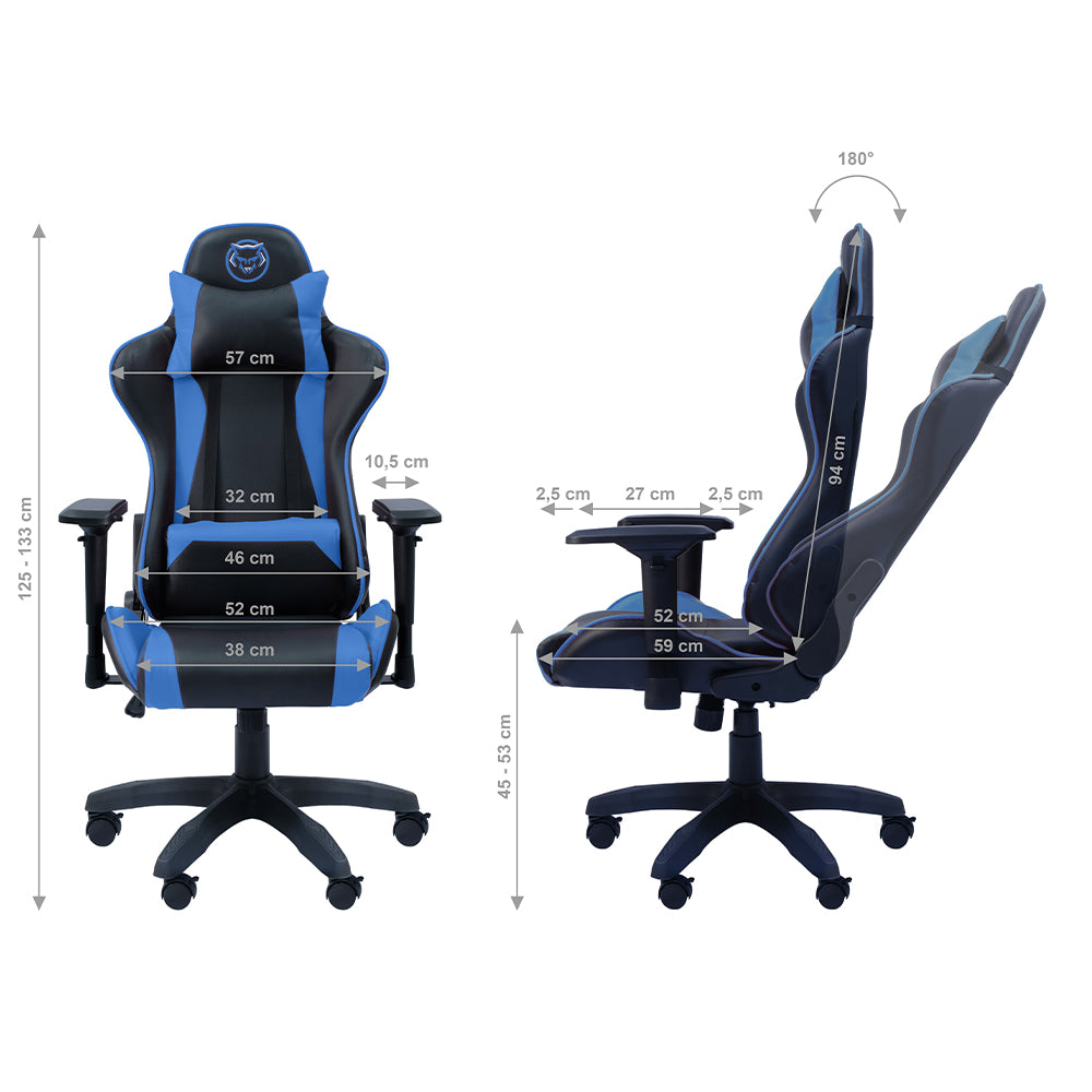 Qware Gaming Chair Taurus - blauw