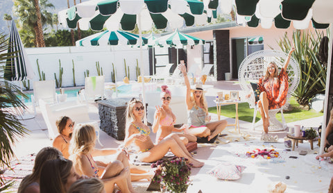 Palm Springs, CA event treated guests to a fun and feminine women's circle.
