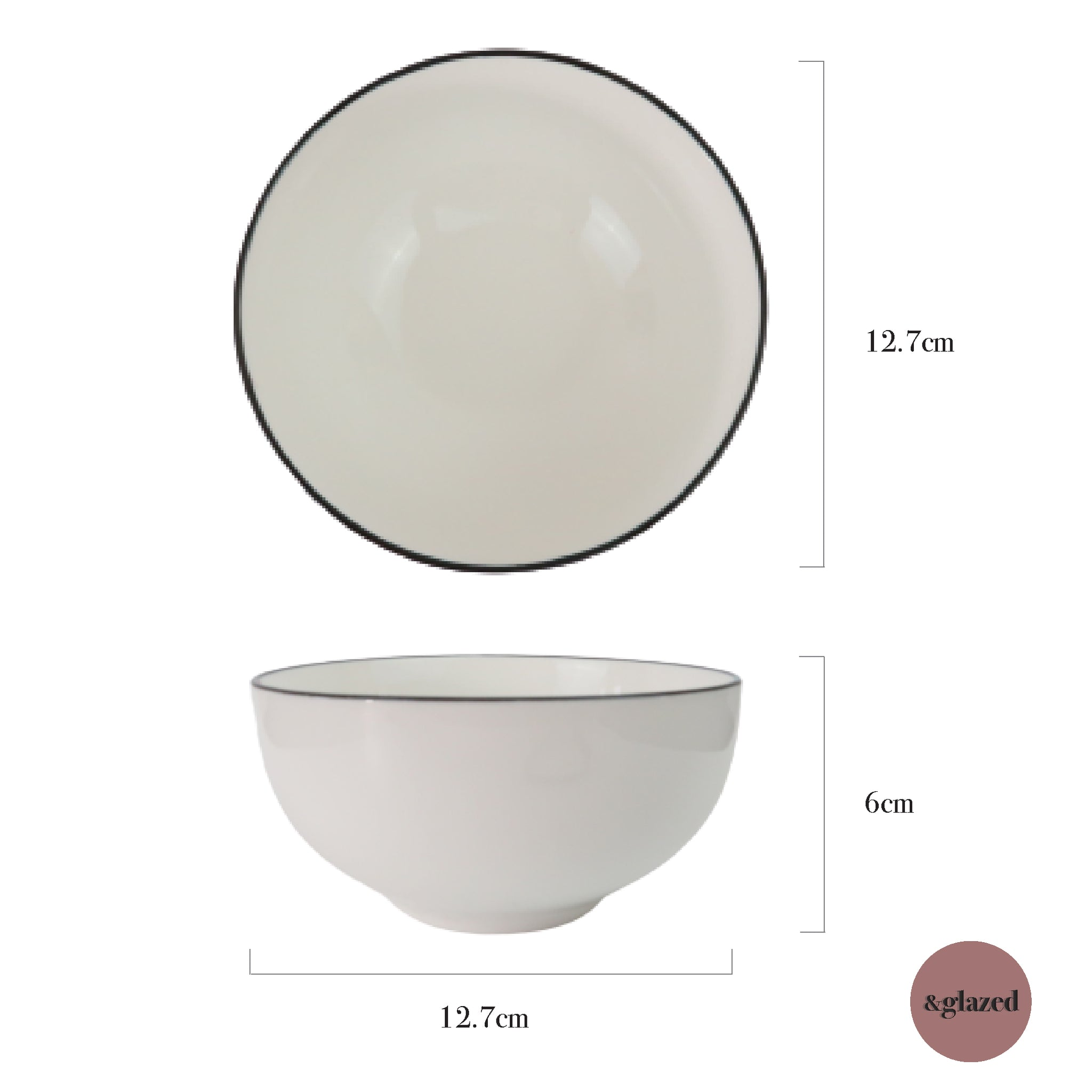 Lined 5-inch Small Bowl