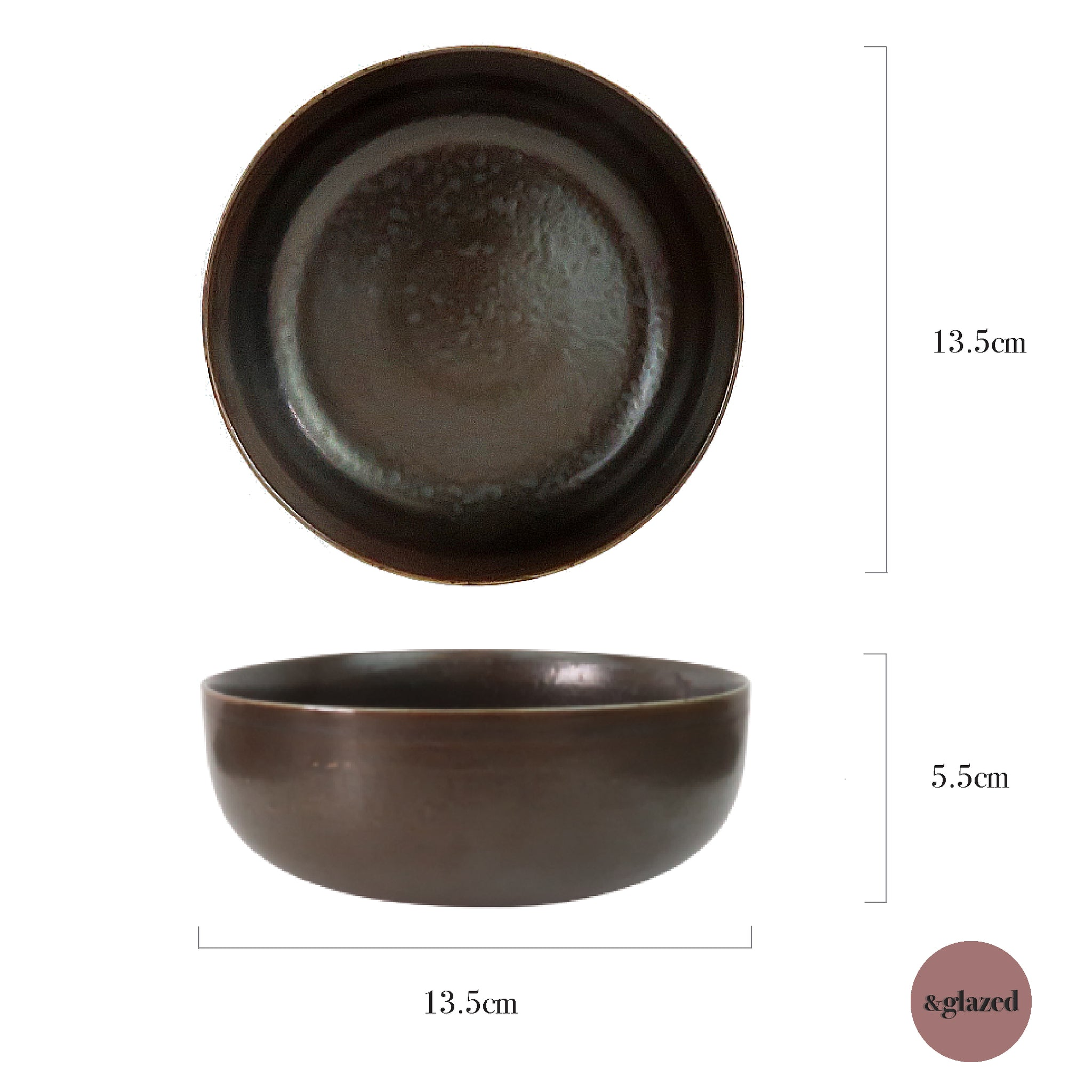 Copper 5.3-inch Small Bowl