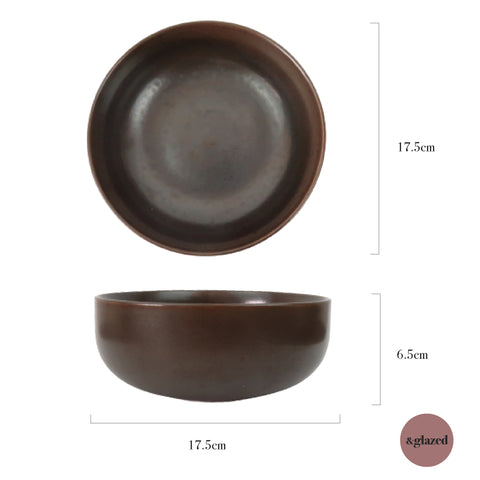 Copper 6.8-inch Medium Bowl