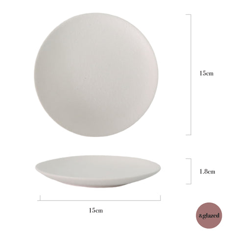 Chalk 6-inch Small Round Plate