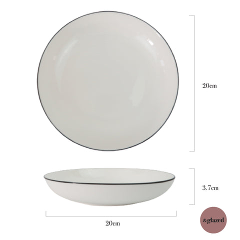 Lined 8-inch Medium Round Plate