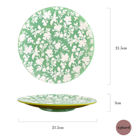 Baltic Florals 8.5-inch Medium Round Plate - En