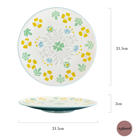 Baltic Florals 8.5-inch Medium Round Plate - To