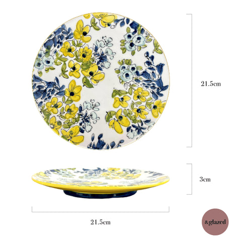Baltic Florals 8.5-inch Medium Round Plate - Tre