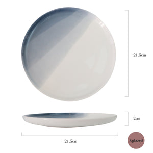 Seaside Blue 8.5-inch Medium Round Plate
