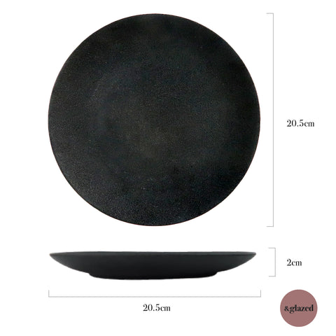 Charcoal 8-inch Medium Round Plate