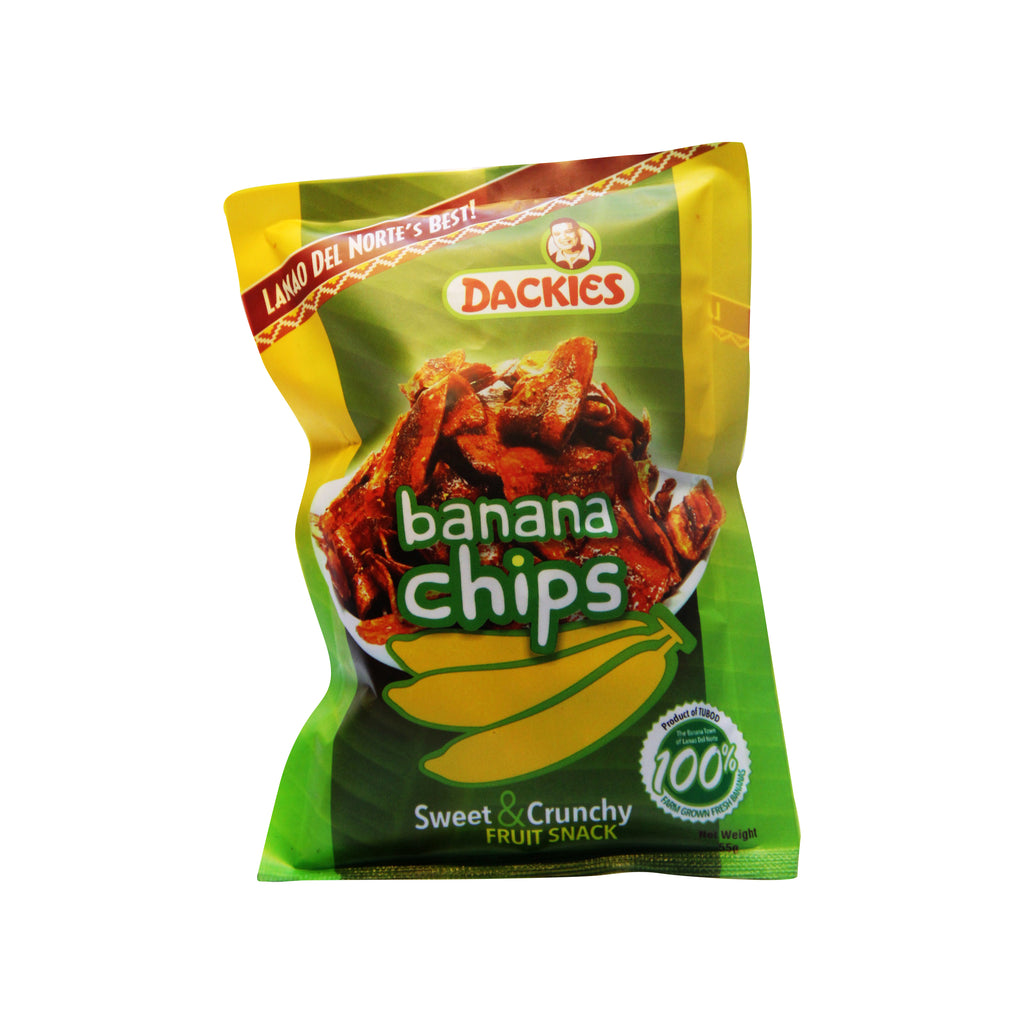 Dackies Banana Chips (Sweet and Crunchy Fruit Snack)