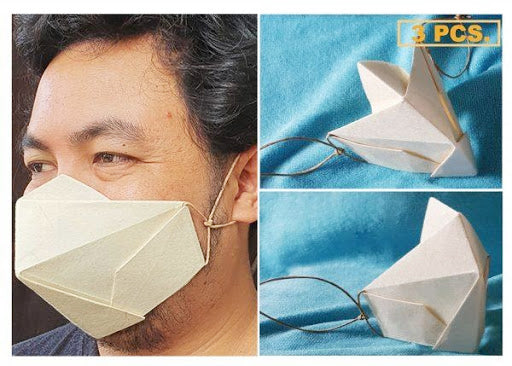 100% Biodegradable Abaca Origami Mask (3pcs)