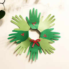 Countdown Calendar - Family Handprint Wreath - Day 8