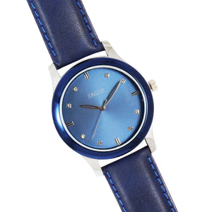 Eager Watch for Men-Best Brand-Leather Strap-Blue Ring-EGSLB01