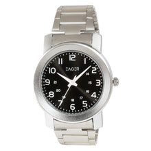 Load image into Gallery viewer, Eager Watch for Men-Silver Chain-Black Dial-GSCH02