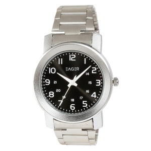 Eager Watch for Men-Silver Chain-Black Dial-GSCH02