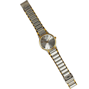 Times Gents Watch-Gold and Silver Chain-Silver Dial-01EMGTT2