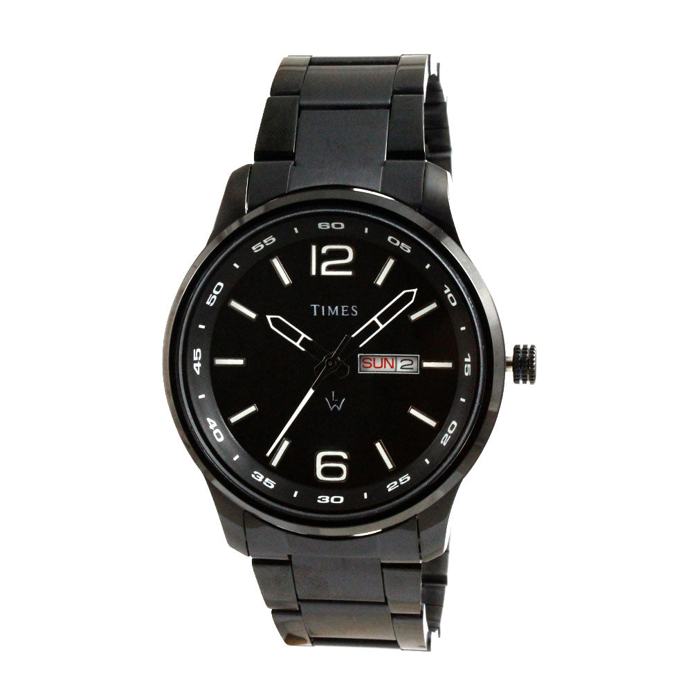 Times Watch for Men-Black Chain-Black Dial-01INBCH01