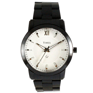 Times-Watch for Men-Black Chain-White Dial - LW01EMB1