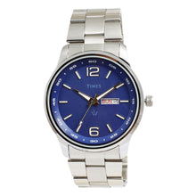 Load image into Gallery viewer, Times Mens Watch - Silver Chain-Blue Dial-01INSCH02