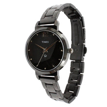 Load image into Gallery viewer, Side face of black color ladies watch. This watch is under 1500 rs. Best price in India. Offer ends soon