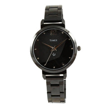 Load image into Gallery viewer, black color girls watch best brand Times with warranty at best price online in India. Offer ends soon.
