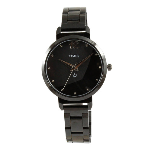 black color girls watch best brand Times with warranty at best price online in India. Offer ends soon.