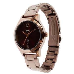 chocolate colour watch for women. Latest and stylish model