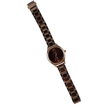 Load image into Gallery viewer, Brown or Chocolate colour watch for ladies and girls with warranty