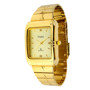 Gents Watch | Gold | Times Brand | 1 Year Warranty