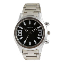 Load image into Gallery viewer, Eager Watch for Men-Silver Chain-Black Dial-GSCH01