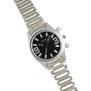 Eager Watch for Men-Silver Chain-Black Dial-GSCH01