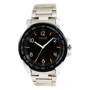 Eager Watch for Men-Silver Chain-Black Dial-GSRCH02