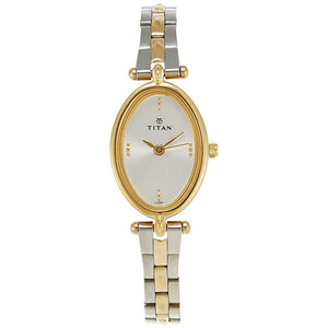 Titan Karishma Analog Silver Dial Women's Watch -NM2418BM01
