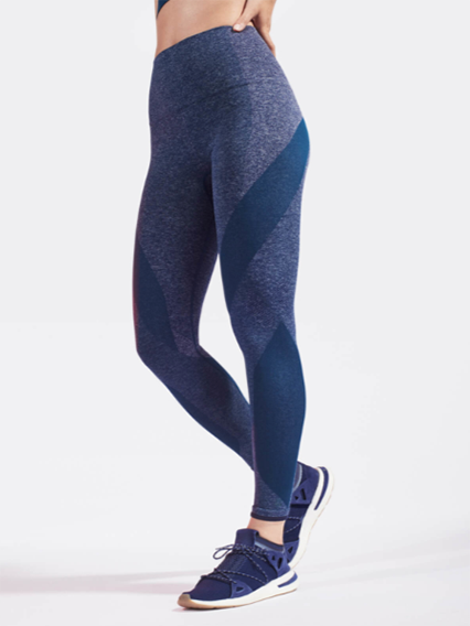 Launch Leggings in Light Blue Marl