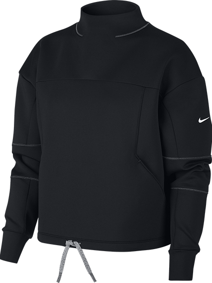Nike Dry Cropped Mock Neck in Black