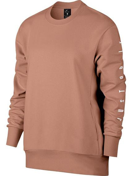 Nike Dri-Ft Sweatshirt in Rose Gold