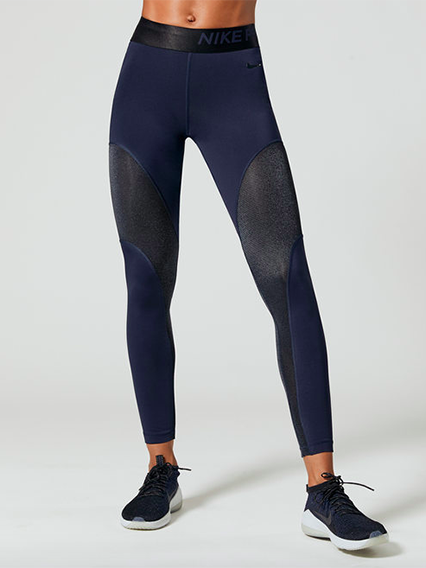 Nike Pro Warm Leggings in Obsidian