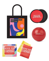 Quickie Fit Kit - Gliders + Resistance Bands + Pilates Ball + Tote Bag