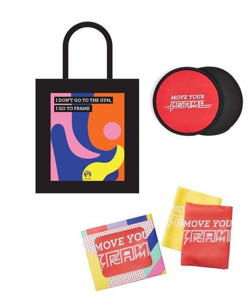 The Reform-ish Pilates Kit - Gliders + Resistance Bands + Tote Bag