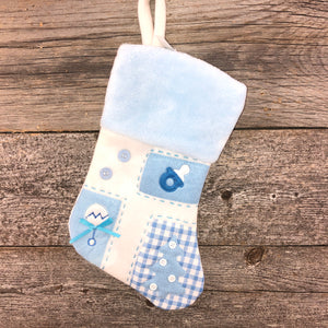 Blue baby stocking