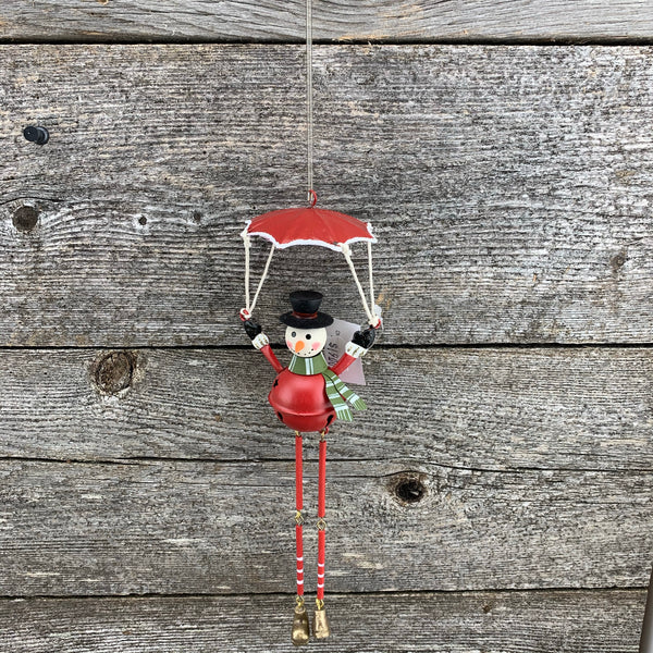 Slinky parachuting ornament