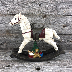 Large wooden rocking horse 15""