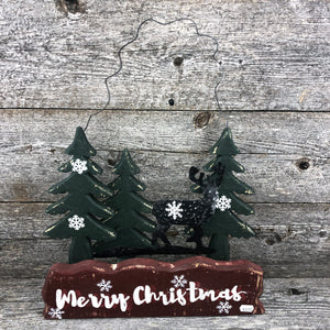 Hanging wire Merry Christmas sign