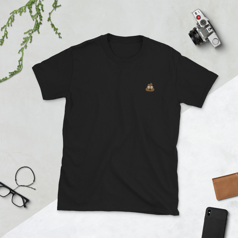 Embroidered Emoji - Short-Sleeve Unisex T-Shirt