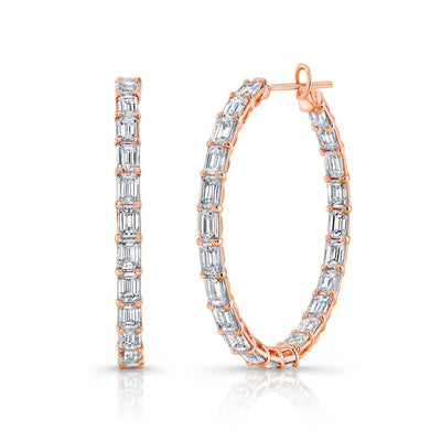 Rahaminov Emerald Cut Diamond Hoop Earrings - Jackson Hole Jewelry Company