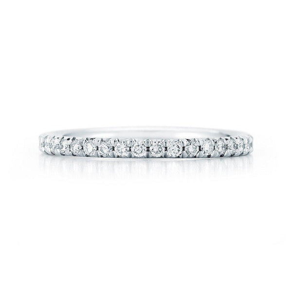 18 Karat French Cut Diamond Pavé  1.5mm Eternity Band Only - Jackson Hole Jewelry Company  - 2
