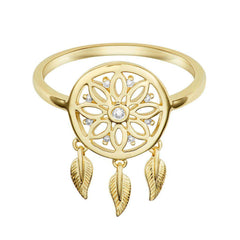 18 Karat Yellow Gold and Diamond Dreamcatcher Ring - Jackson Hole Jewelry Company