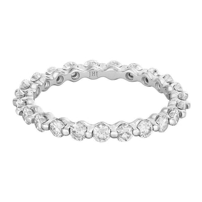 18K White Gold Shared Pronged Diamond Eternity Ring - Jackson Hole Jewelry Company